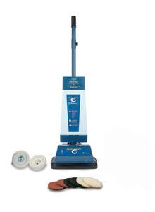 "Koblenz P820 Upright Floor Cleaner, Scrub Polish Buff Wax, Bronze Gears, 12"" Cleaning Width, Steel Handle"