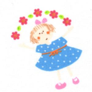 Fabric Finders 15 Yd Bolt 9.34 A Yd  #414 Girl With Blue Dress And Flowers 100% Pima Cotton Fabric