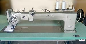 "Juki, LG-158-1, Single Needle, 30"" LongArm, Walking Foot, Industrial Sewing Machine, & Power Stand LG158, 10mm SL, 7/8"" Lift, Big M Bobbin, 100 DDx1 Needles"