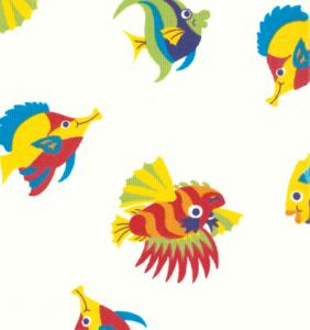 "Fabric Finders 15 Yd Bolt 9.34 A Yd  #342 Pique 100% Pima Cotton Fabric Fish 60"""