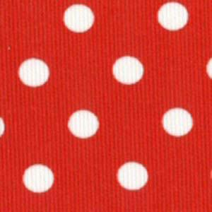 """Fabric Finders 15 YD Bolt 9.99 A YD #104 Pique 100% Pima Cotton Fabric Red Material With Large White Dots 60"""""""