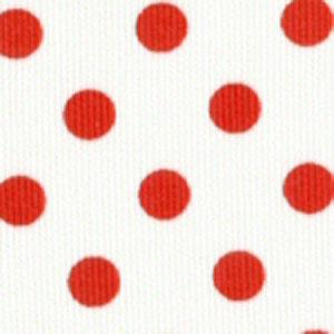 Fabric Finders 15 YD Bolt 9.99 A YD #105 Pique 100% Pima Cotton Fabric White Material With Large Red  Dots 60""