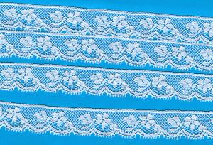 """Capitol Imports 631 French Val Lace White 1/2"""" Wide for Heirloom Sewing"""