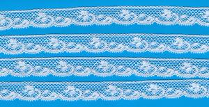 """Capitol Imports 1061 French Val Lace White Lace by the Yard White 1/2"""""""