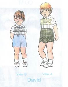 Childrens Corner CC007 David 2Pc Boys Shirt Pants Sewing Pattern Sz 3-4