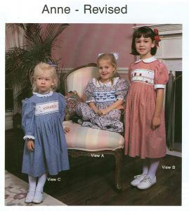 Childrens Corner CC05 Anne Revised Dress Sewing Pattern Sizes 5-8, Smocking design is included