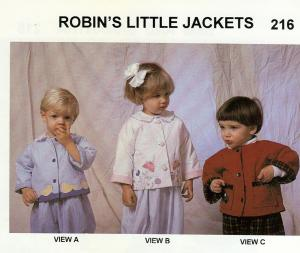 Childrens Corner CC216 Robin's Little Jackets Pattern sz 6 mo-3