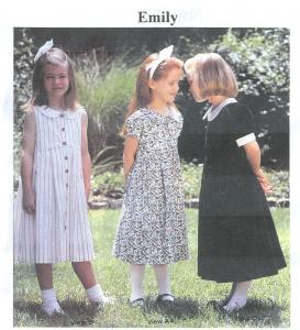 64325: Childrens Corner CC214L Emily Dress Sewing Pattern sz 8-12 yrs