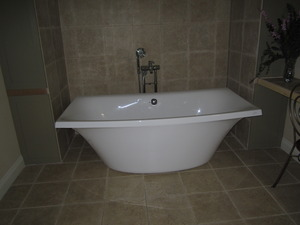 "Kohler K-11344-0 Escale Freestanding Acrylic Soaking Bath Tub, 72""L x 36""W x 24-1/8""H, Center Drain, Floor Model Display For Retail Pick up Only*"