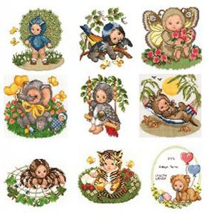 Sudberry House D7100 Animal Babies-Exotic Machine 16 Cross Stitch Embroidery Designs Multi-Formatted CD
