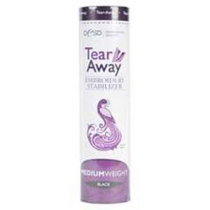 OESD HBT35-10 Medium Weight TearAway Embroidery Stabilizer Black, 10in x 10Yds Roll