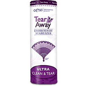 OESD, HBT17-10, Ultra, Clean, Tear, Away, Stabilizer, Backing, WHITE, 10, Inch, Yard, Roll, Ideal, Towel, 100%, Cotton, Quilt