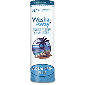 "OESD HBWAP-10 AquaMesh Plus WashAway Water Soluble Stabilizer 10""x5Yds"