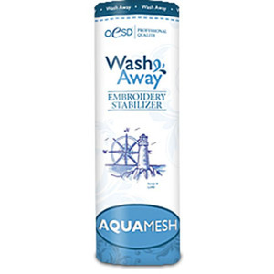OESD Lightweight AquaMesh WashAway Water Soluble Embroidery Stabilizer 10In x 10Yds Roll Shrink Wrapped