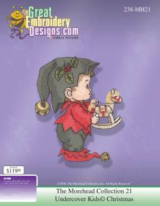 Great Notions 112250 MH21 Moreheads Licensed Collection Undercover Christmas Multi-Formatted Embroidery Designs CD