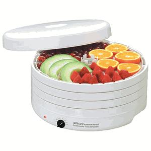 Nesco, American Harvest, FD-1010, Garden Master ,Professional, Dehydrator, 1000 Watts, 95 - 155 degrees F, Expandable to 30 Trays, 64 Page Recipe Book