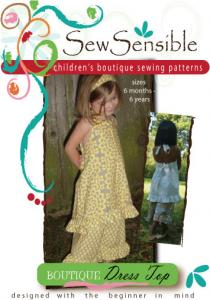Sew Sensible Boutique Dress Top Pattern On CD