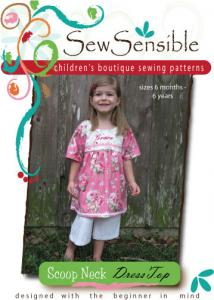 Sew Sensible Boutique Scoop Neck Dress Top Pattern On CD