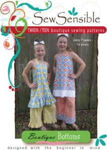 Sew Sensible Tween Teen Boutique Dress Bottoms Pattern On CD