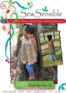 Sew Sensible Faith Boutique Dress Top Pattern On CD