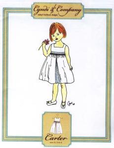 Cyndi & Company Carter Sleeveless A-line dress w/square yoke Size 2t-4t