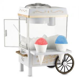 Nostalgia Electrics SCM 502 Old Fashioned Snow Cone Maker, On Off Switch, Cone Syrup Shelf, Shaves Ice Cubes, Sno Cone Treats, Iced Coffee, Margaritas