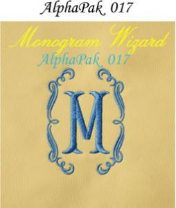 Alpha Pak 17 Fonts CD for Monogram Wizard Plus Embroidery Software Only Alpha Pack