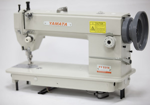 Yamata FY5318 Walking Foot Top Bottom Feed Upholstery Sewing Machine HEAD (Juki 201) M Bobbin, 6-13mm Foot Lift, 8mmStitch, Reverse, 2000SPM, Auto Oil
