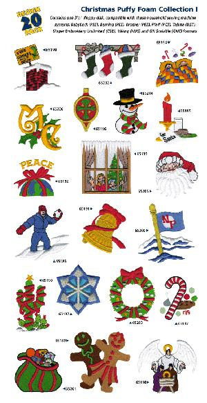 355: Amazing Designs Great Notions 1064 Christmas Puffy Foam I Embroidery CD