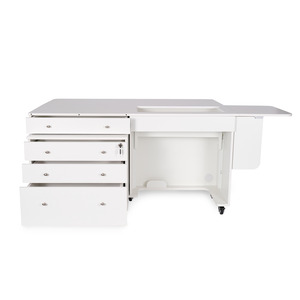 """Kangaroo II White Ash K8811 Sewing Machine Cabinet  +Joey K7811 3-Drawer Caddy, Platform Opening 23-3/4x12.5"""""""