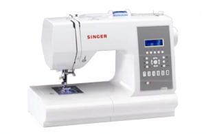 Singer, 7470, FS, Electronic, Sewing Machine,  Push-Button, Stitch Selection,  7 buttonholes, alphabet, lettering, Font, Handlook Quilt stitch, Auto Backtack, Mirror Image, 13 Positions, Needle Up Down, Threader