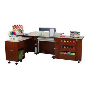 Kangaroo Kabinets K8605 Aussie II Sewing Machine Cabinet Teak