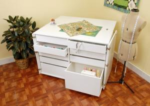 Kangaroo Kabinets by Arrow K7911 Dingo Sewing Storage Cabinet, 9 Drawers -White Ash