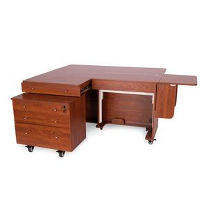Kangaroo II Teak K8805 Kangaroo Sewing Machine Cabinet, K7805 Joey Caddy
