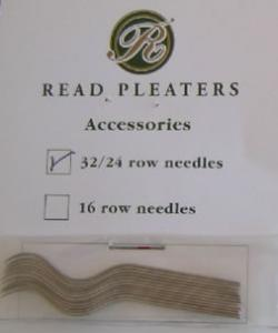 Read 12 Pack Needles Back in Stock for Read 24 or 32 Row Pleater Machines Manufactured After 1998, 2-1/8 Inch or 5.5mm Long
