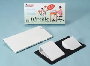 """17754: Sew Ergo Sewing Machine Tiltable Table 9x18""""*+ Sure Foot Pedal Holder (Pedal Stay)"""