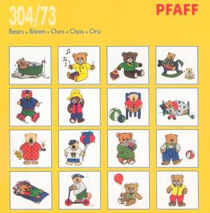 Pfaff 30473 Bears Embroidery Card for Pfaff Embroidery Machines or Amazing Box