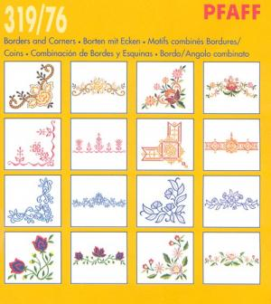 Pfaff 31976 Borders and Corners Embroidery Card