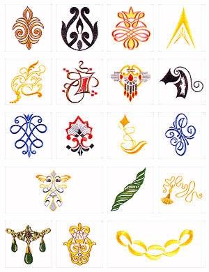 Pfaff No. 23 Ornaments Embroidery Card
