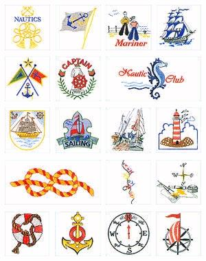 Pfaff No. 34 Navigation Embroidery Card