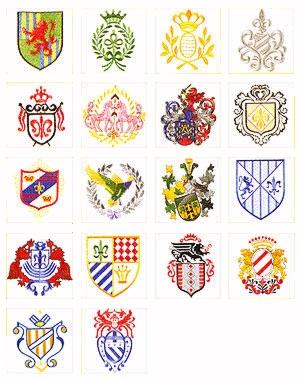 Pfaff No. 43 Coats of Arms No. Embroidery Card