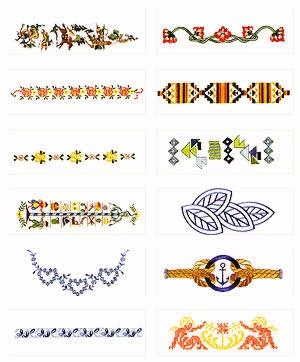 Pfaff No. 51 Pattern Combinations Embroidery Card
