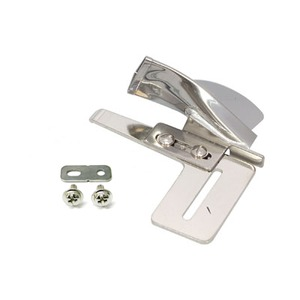"""Superior 100105 SR, 1"""" Mouth Single Fold Bias Binder Attachment Screws Down to Home & Ind Sewing Machine Bed Threaded Holes to Right of Needle Plate"""