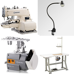 """Reliable 8000DT Drapery 3/4"""" Pleat Bar Tacker Tacking Machine & Stand  (Replaces MSK-373N/DTACK, Like MSK373ND Taiwan, Japan Juki 373)"""