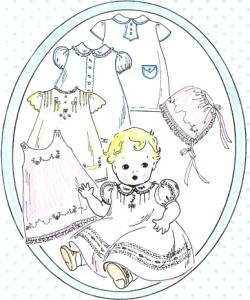 The Old Fashion Baby By Jeannie Baumeister Best Embroidered Baby Clothes One Pattern