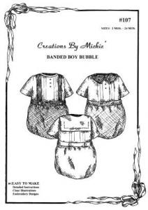 Creations by Michie CB107 Boy Bubble 107 Pattern Size 3-24mo