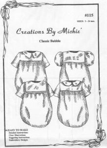 Creations Michie CB115 Boys Classic Smocked Bubble Pattern Size 3-24