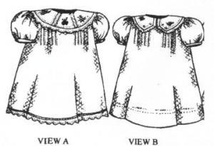 Creations by Michie CB124B Heirloom Dress Pattern 124B Size 3-24mo & 2-5yrs