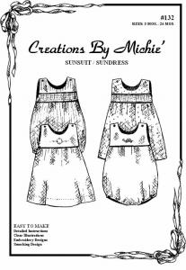 Creations by Michie CB132 Sundress and Sunsuit 132 Pattern 3-24mo