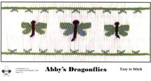 Cross-eyed Cricket Abby's Dragonflies Smocking Plate